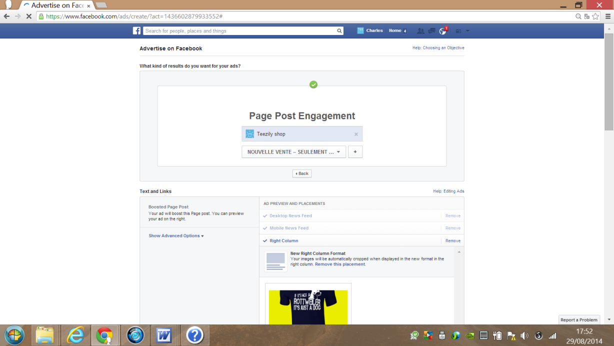 Promoting the Page Post Engagement to boost your conversions
